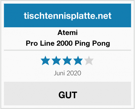 Atemi Pro Line 2000 Ping Pong Test