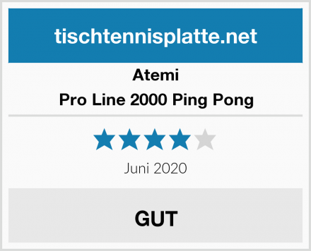 Atemi Pro Line 2000 Ping Pong Test
