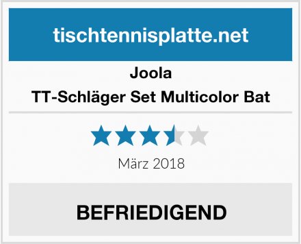 Joola TT-Schläger Set Multicolor Bat Test