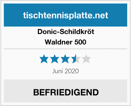 Donic-Schildkröt Waldner 500 Test