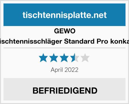 GEWO Tischtennisschläger Standard Pro konkav Test