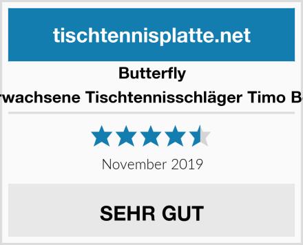 Butterfly Erwachsene Tischtennisschläger Timo Boll Test